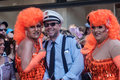 Gay pride parade cologne germany july costumed people at the csd called christopher street day in on july Stock Images