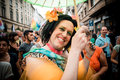 Gay pride parade in milan on june italy manifestation normal people lesbians transgenders and bisexuals take to the street Royalty Free Stock Photo