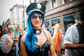 Gay pride parade in milan on june italy manifestation normal people lesbians transgenders and bisexuals take to the street Royalty Free Stock Image