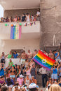 Gay pride parade tel aviv israel june people partying at the annual in the streets of Stock Photography