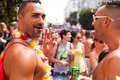 Gay pride parade tel aviv israel june people partying at the annual in the streets of Stock Image