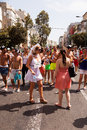 Gay pride parade tel aviv israel june people partying at the annual in the streets of Stock Photo