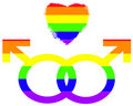 Gay Pride Symbols of Love Royalty Free Stock Photos