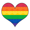 Gay rainbow flag in heart shape colors glbt symbol Royalty Free Stock Photography