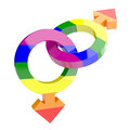 Gay symbols d render of male isolated on white background Stock Photos