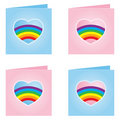 Gay Valentine Card - Vector Illustration Royalty Free Stock Photos