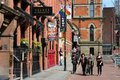 Gay village in manchester uk april people visit famous on april uk is one of oldest and largest lgbt Stock Image