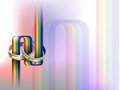Gay wedding vector rings on rainbow path eps file gradient mesh and transparency used Stock Image