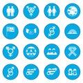 Gays icon blue