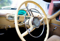 Gaz-21 steering wheel Stock Image