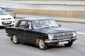 Gaz volga moscow russia june soviet retro car at the city street Stock Image