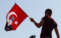 Gazdanadam fest man with turkish flag in man made of tear gas held in kadikoy on july in istanbul turkey took about hours in Royalty Free Stock Photo