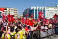 Gazdanadam fest tens of thousands people attended man made of tear gas held in kadikoy on july in istanbul turkey took about Royalty Free Stock Photography