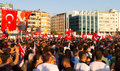 Gazdanadam fest tens of thousands people attended man made of tear gas held in kadikoy on july in istanbul turkey took about Royalty Free Stock Photos