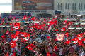 Gazdanadam fest tens of thousands people attended man made of tear gas held in kadikoy on july in istanbul turkey took about Royalty Free Stock Photo