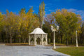 Gazebo in autumn park Royalty Free Stock Photos
