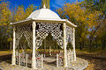 Gazebo in autumn park outdoor stock image Stock Photography