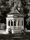 Gazebo in Black and White Stock Image