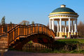 Gazebo and bridge Royalty Free Stock Photography
