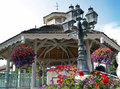 A gazebo with colorful flowers in leavenworth washington usa Stock Images
