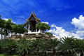Gazebo in french park nong nooch tropical botanical garden Royalty Free Stock Photo