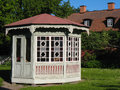Gazebo in gamla linkoping linkoping sweden a friluftsmuseet old open air museum Royalty Free Stock Photo