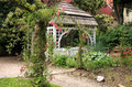 Gazebo in the garden ratiborice czech republic a with climbing roses palace formal grandmother's valley Stock Images