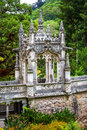 Gazebo on the ornate bridge of Quinta da Regaleira Stock Image