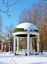 Gazebo in  park Stock Images