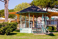 Gazebo in the park grado italy Stock Image