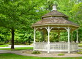 Gazebo in a park this is photo of taken at wilson granite city illinois this photo was taken july with nikon d Stock Images