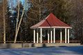 Gazebo in the park for relaxing imatra finland Royalty Free Stock Photos