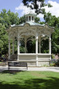 Gazebo in the park typical an american phenomenon public squares Royalty Free Stock Images