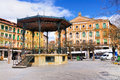 Gazebo pavilion like structure plaza mayor central town square segovia spain Stock Photo