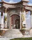 Gazebo relaxing classical roman style Stock Photo