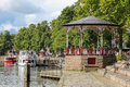 Gazebo at the River Dee Quayside. Chester. England Royalty Free Stock Photo
