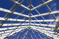 Gazebo Roof Frame Stock Images