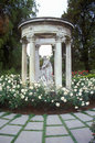Gazebo with statuary, Huntington Library and Gardens, Pasadena, CA Royalty Free Stock Photo