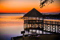 Gazebo sunset Royalty Free Stock Photo