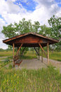 Gazebo in Wilderness Park Stock Photography