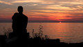 Gazing upon sunset Royalty Free Stock Photo
