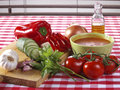Gazpacho Andaluz Stock Photos