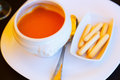 Gazpacho - spanish  cold soup Royalty Free Stock Photo