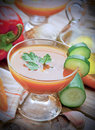 Gazpacho, spanish cold soup Royalty Free Stock Photo