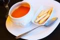 Gazpacho - spanish  cold soup Royalty Free Stock Photo