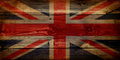 GB Union Jack Flag on grunge wooden background Royalty Free Stock Photo