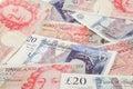 GBP bank notes Royalty Free Stock Photo