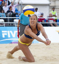Gbr fivb international london england denise johns during the beach volleyball tournament at horse guards parade westminster Stock Photos