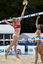 Gbr fivb international london england shauna mullin during the beach volleyball tournament at horse guards parade westminster Stock Photos