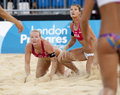 Gbr fivb international london england shauna mullin zara dampney vs alejandra simon andrea garcía gonzalo esp during the beach Royalty Free Stock Photos